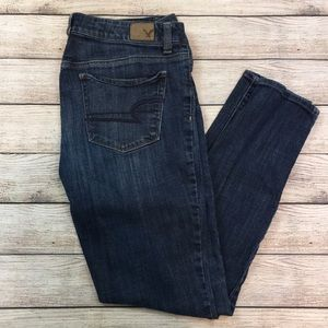 American Eagle High Rise Skinny Stretch Jeans